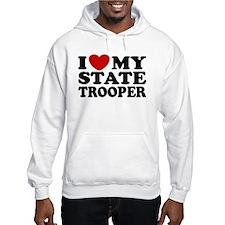 I Love My State Trooper Hoodie