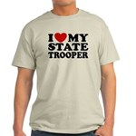 I Love My State Trooper Light T-Shirt