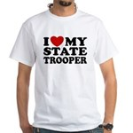 I Love My State Trooper White T-Shirt
