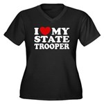 I Love My State Trooper Women's Plus Size V-Neck D