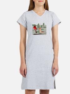 Unique Bird cardinal Women's Nightshirt