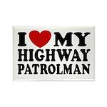 I Love My Highway Patrolman Rectangle Magnet