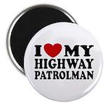 I Love My Highway Patrolman Magnet
