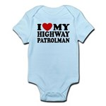 I Love My Highway Patrolman Infant Bodysuit
