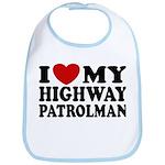 I Love My Highway Patrolman Bib