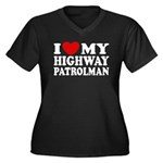 I Love My Highway Patrolman Women's Plus Size V-Ne