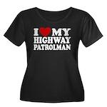 I Love My Highway Patrolman Women's Plus Size Scoo