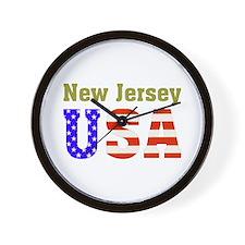 New Jersey USA Wall Clock