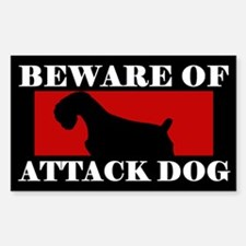Beware of Attack Dog Schnauzer Decal