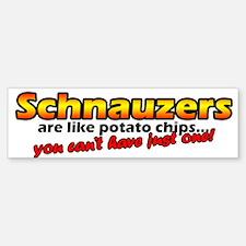 Potato Chips Schnauzer Bumper Bumper Bumper Sticker