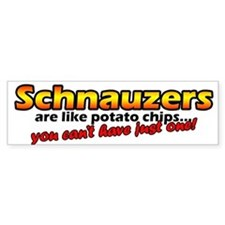 Potato Chips Schnauzer Bumper Bumper Sticker