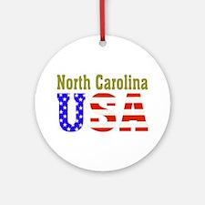 North Carolina USA Ornament (Round)