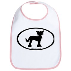 Chinese Crested Oval Bib