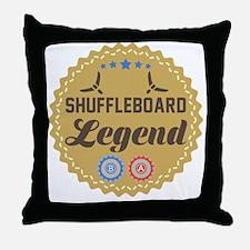 Cute Shuffleboard Throw Pillow