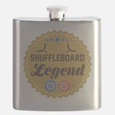 Cute Shuffleboard Flask