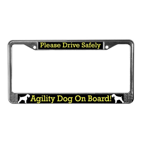 Schnauzer Agility Dog License Plate Frame