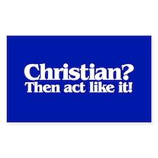CHRISTIAN? Rectangle Decal