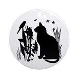 Kitty silhouettes Ornaments