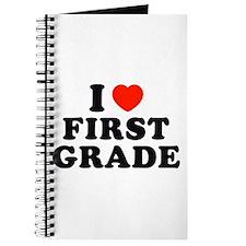 I Heart/Love First Grade Journal