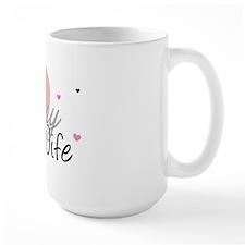 Army Wife Hearts Mug