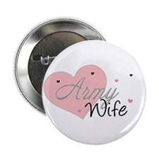 "Army Wife Hearts 2.25"" Button"