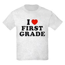 I Heart/Love First Grade T-Shirt