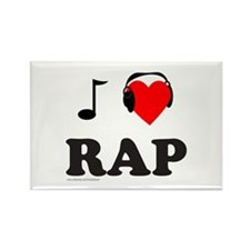 RAP MUSIC Rectangle Magnet