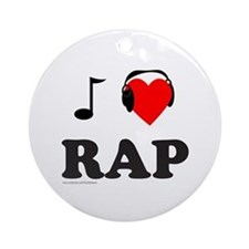 RAP MUSIC Ornament (Round)