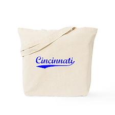 Vintage Cincinnati (Blue) Tote Bag