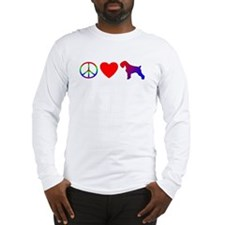 Peace Love Schnauzer Long Sleeve T-Shirt