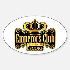 Emperor's Club VIP Escort Oval Decal