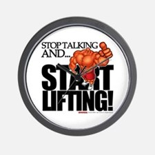 STOP TALKING... START LIFTING - Wall Clock