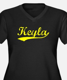 Vintage Keyla (Gold) Women's Plus Size V-Neck Dark