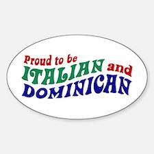 Dominican italian Oval Decal