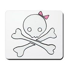 cutie skull (pink) Mousepad
