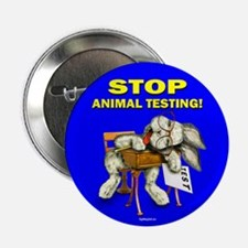 "Stop Animal Testing! 2.25"" Button (10 pack)"