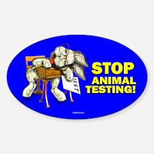 Stop Animal Testing! Oval Decal
