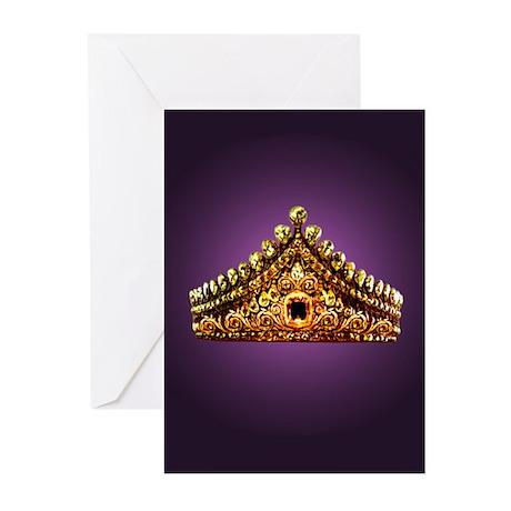 RoyalTiaraPurple 9x12 Greeting Cards