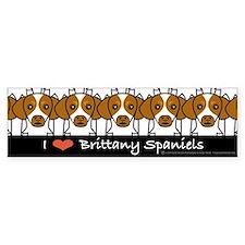 I Love Brittany Spaniels Bumper Bumper Sticker