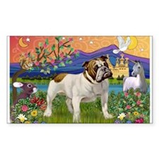 English Bulldog Fantasyland Decal