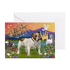 English Bulldog Fantasyland Greeting Cards (Pk of