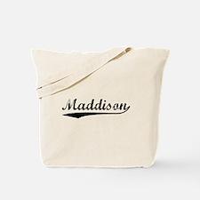 Vintage Maddison (Black) Tote Bag
