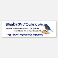 Bluebird Nut Cafe Bumper Bumper Bumper Sticker
