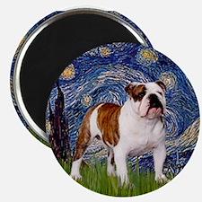 Starry Night English Bulldog Magnet