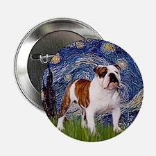Starry Night English Bulldog Button