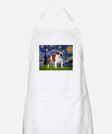 Starry Night English Bulldog BBQ Apron