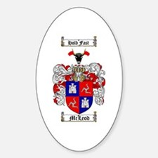 McLeod Family Crest Oval Decal