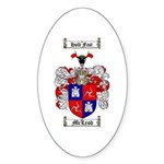 McLeod Family Crest Oval Sticker