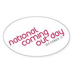 NCOD Ascent Oval Sticker (50 pk)