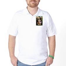 Mona Lisa & English Bulldog T-Shirt